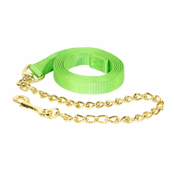 Nylon Lead Rope with Chain & Snap, Single Color - Lead - Hamilton - Miracle Corp