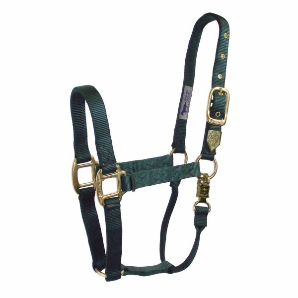 """1"""" Deluxe Nylon Halters with Adjustable Chin Strap and Panic Snap - Halter - Hamilton - Miracle Corp"""