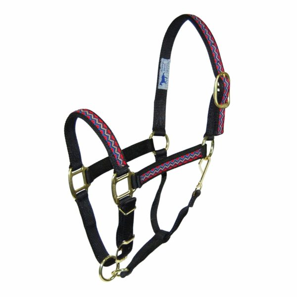 """1"""" Quality Nylon Halters with Weave Overlay Adjustable Chin & Snap - Halter - Hamilton - Miracle Corp"""