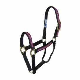 """1"""" Quality Nylon Halters with Weave Overlay - Halter - Hamilton - Miracle Corp"""