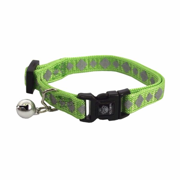 Breakaway & Snag Proof Reflective Adjustable Collar with Bell - Collar - Hamilton - Miracle Corp