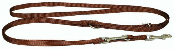 Designer Single Thick Euro/Multi-Use Leash with Brushed Nickel Finish - Leash - Hamilton - Miracle Corp