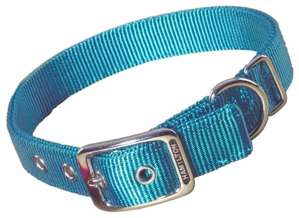 """Classic Double Thick Buckle Collars, Large 18"""" - 26"""" - Collar - Hamilton - Miracle Corp"""