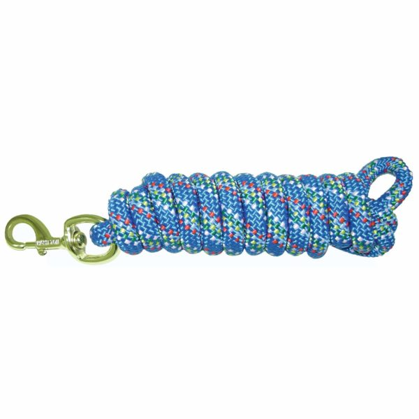 Poly Lead Rope with Bolt Snap, Confetti Pattern - Lead - Hamilton - Miracle Corp
