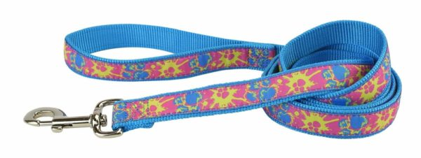 Fashion Single Thick Leash with Ribbon Overlay - Leash - Hamilton - Miracle Corp