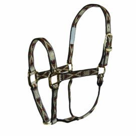 """1"""" Quality Nylon Halters with Southwest Overlay - Halter - Hamilton - Miracle Corp"""