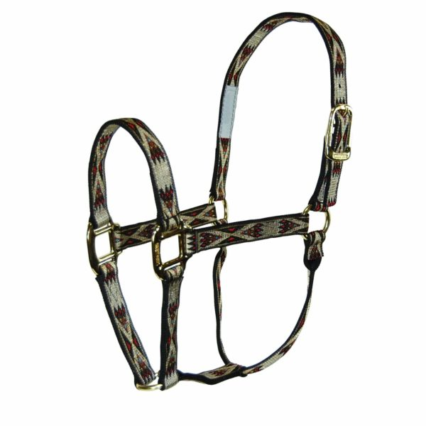 "1"" Quality Nylon Halters with Southwest Overlay - Halter - Hamilton - Miracle Corp"